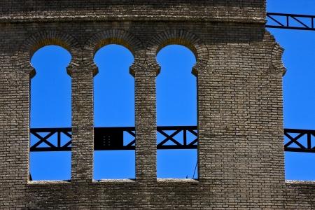 old window and wall in plaza de toros centre of colonia del sacramento uruguay Stock Photo - 17711809