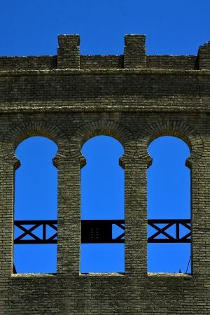 old window and wall in plaza de toros centre of colonia del sacramento uruguay Stock Photo - 17830872