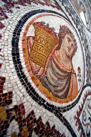 mosaic piece of  ceramics in the monument Museum of the bard tunisia photo