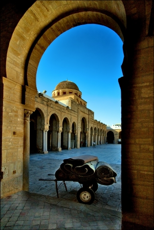carpet  car Great Mosque of Kairouan Tunisia  the fourth most sacred place of islam photo