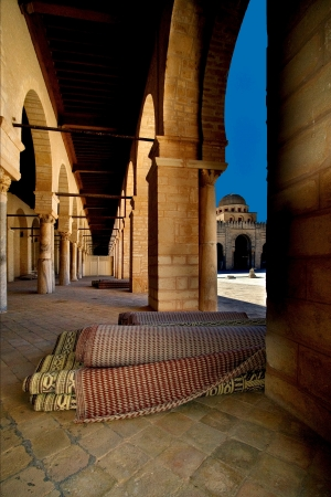Great Mosque of Kairouan Tunisia  the fourth most sacred place of islam Stock Photo - 18015872