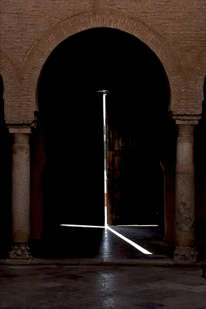 light door and bow Great Mosque of Kairouan Tunisia  the fourth most sacred place of islam photo