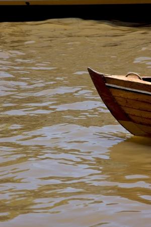 tigre:  prow boat water and coastline in rio de la plata el tigre buenos aires argentina