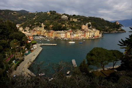 the panaoramas  in village of portofino  in the north of italy liguria photo