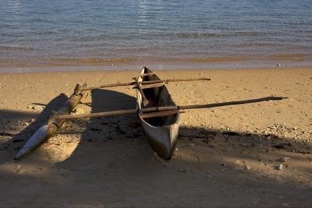 oar:  nosy be  madagascar boat oar  lagoon and coastline