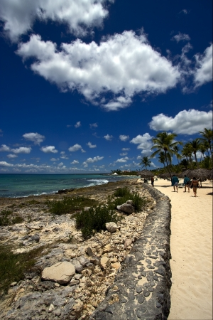 republica dominicana tourist coastline  peace marble and relax near the caribbean beach  photo