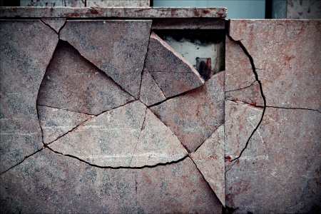 vaduz liechtenstain abstract broken wall photo