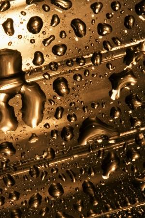matiere plastique: d�poser de l'or abstrait dans un mat�riau plastique