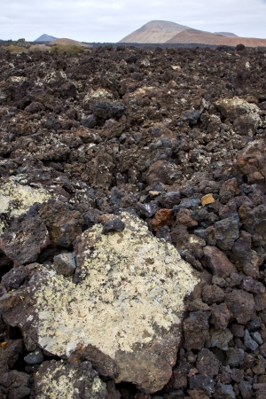 timanfaya: volcanic stone in los volcanes lanzarote  spain  timanfaya  rock  sky  hill and summer