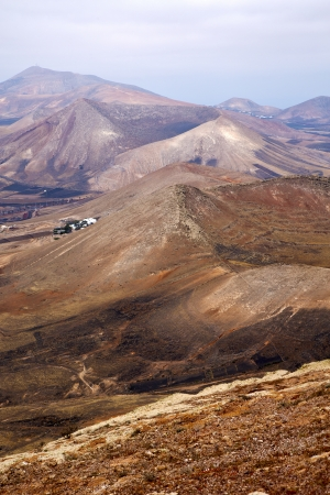 view from the top in lanzarote spain africa and house  photo