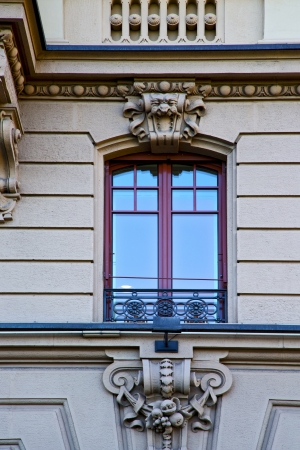 old wall window in the   centre   of city lugano Switzerland Swiss  photo