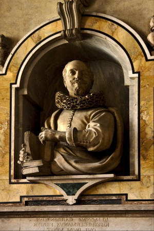 gravel pit: in naples italy statue of a man gravel pit Stock Photo