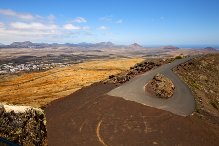 panoramas: panoramas arrecife  lanzarote  spain the old wall castle  sentry tower and slot in disguise