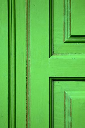 lanzarote abstract door wood in the green spain photo