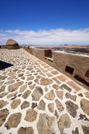 sentry: house  castillo de las coloradas  lanzarote  spain the old wall castle  sentry tower and door  in teguise