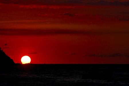 sunset  lagoon peace and coastline in madagascar nosy be photo