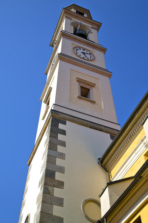 varese  church vedano olona italy the old wall terrace church bell tower plant   photo