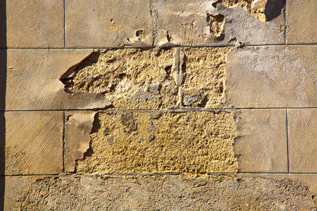 curch: mornago lombardy italy  varese abstract   wall of a curch broke brike pattern