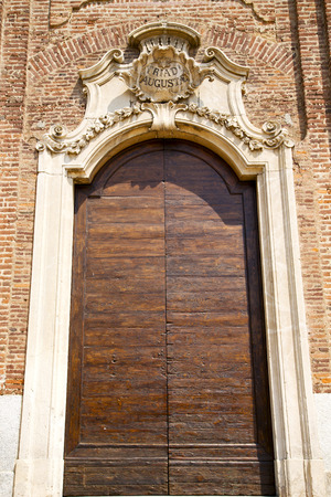 church  samarate  varese italy the old door entrance and mosaic photo