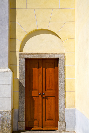 caidate old abstract in  italy   the   wall  and church tower bell sunny day photo