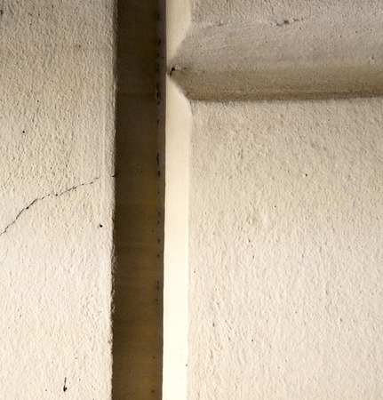 abstract cross in the wall crenna gallartate varese italy photo