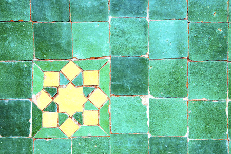 abstract morocco in africa  tile the colorated pavement   background texture photo