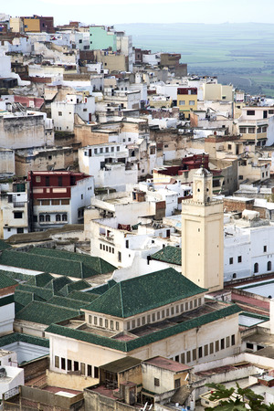 casbah: Constructions from high in       the village    morocco africa field and  history