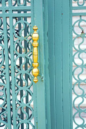 metal brown    morocco in    africa the old wood  facade home and rusty safe padlock photo