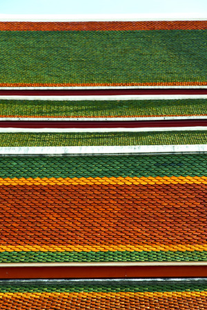 krung: thailand abstract cross colors roof wat  palaces in the temple  bangkok  asia and sky Stock Photo
