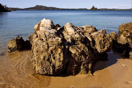 nosy: nosy be ,nosy mamoko coast, madagascar lagoon , coastline and sand
