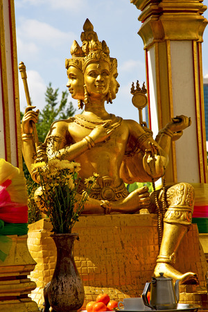 siddharta  in the temple bangkok asia   thailand abstract cross        step    wat   palaces photo