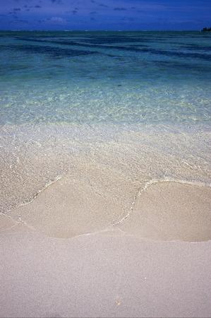 du: beach  in ile du cerfs mauritius