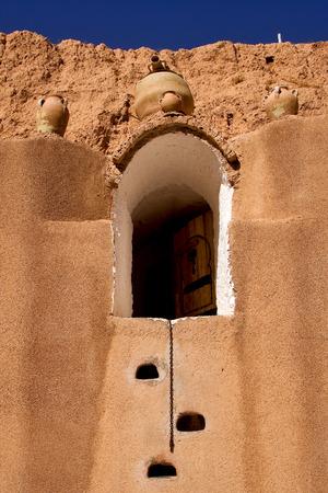 matmata: old door in hotel in the city of matmata tunisia