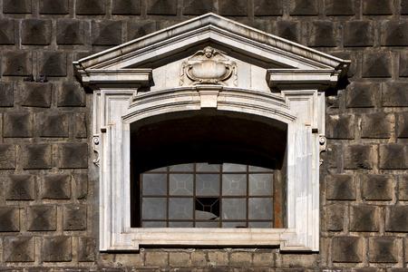 Napoli: napoli chiesa del gesu nuovo and the window