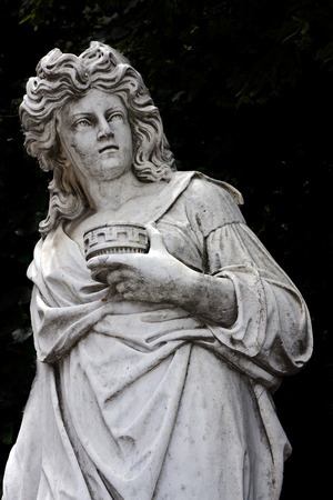 kneel down: marble statue of a women in buenos aires argentina