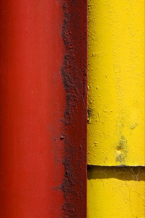 la boca: colored iron metal sheet in la boca buenos aires Stock Photo