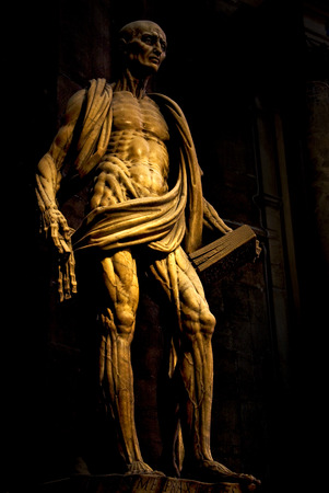 A statue in the duomo of milan