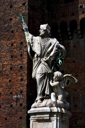 putto: Statue in the     castle Stock Photo