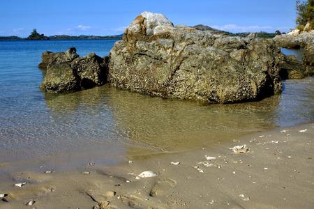 nosy be ,nosy mamoko, madagascar lagoon , coastline and sand Stock Photo