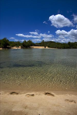 nosy: nosy mamoko  madagascar lagoon  and coastline  and Stock Photo