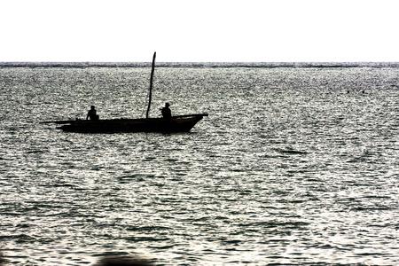 zanzibar: boat in tanzania zanzibar sea Stock Photo
