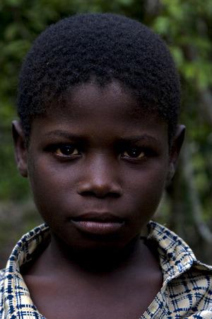 bambino: portraif of a little chilld male in the isle of zanzibar Editorial