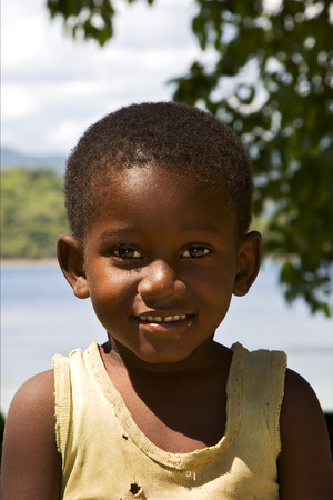 bambino: child in nosy be madagascar Editorial