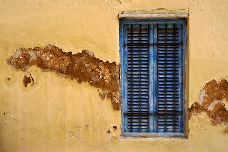 zanzibar: zanzibar prison island and a old window closed