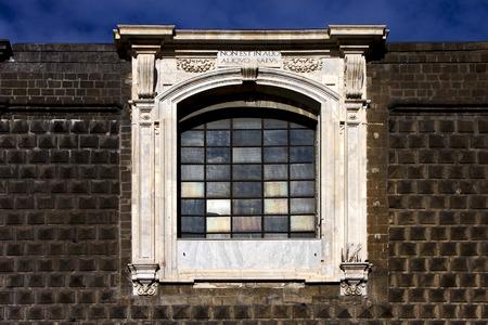 chiesa: napoli chiesa del gesu nuovo and the window