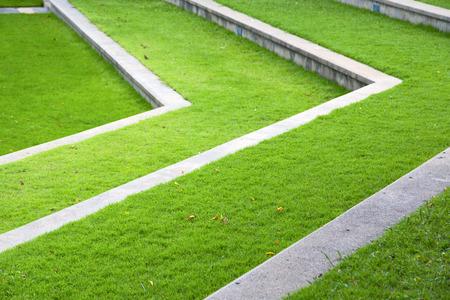 abstract cross: thailand abstract cross garden grass in the temple  bangkok  asia Stock Photo