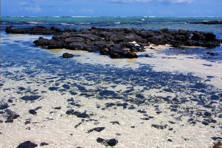 footstep: boat foam footstep indian ocean some stone in the island of deus cocos in mauritius