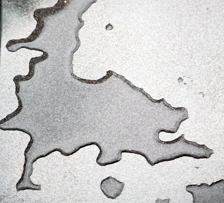 reflexion: en una reflexión coche y fondo gota desenfoque