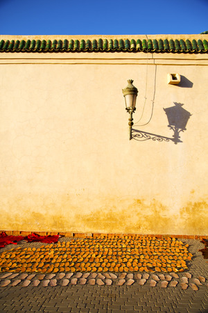 casbah: street lamp old construction in africa morocco and  leather near the tower