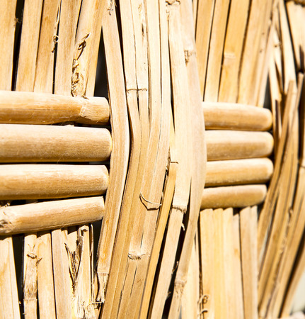 rattan: texture bamboo in morocco africa brown natural line closeup